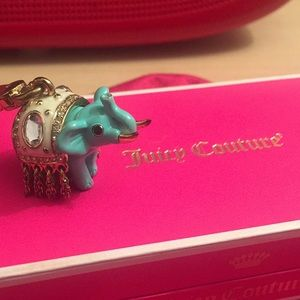 Juicy Couture Teal 'Lucky' Elephant Charm